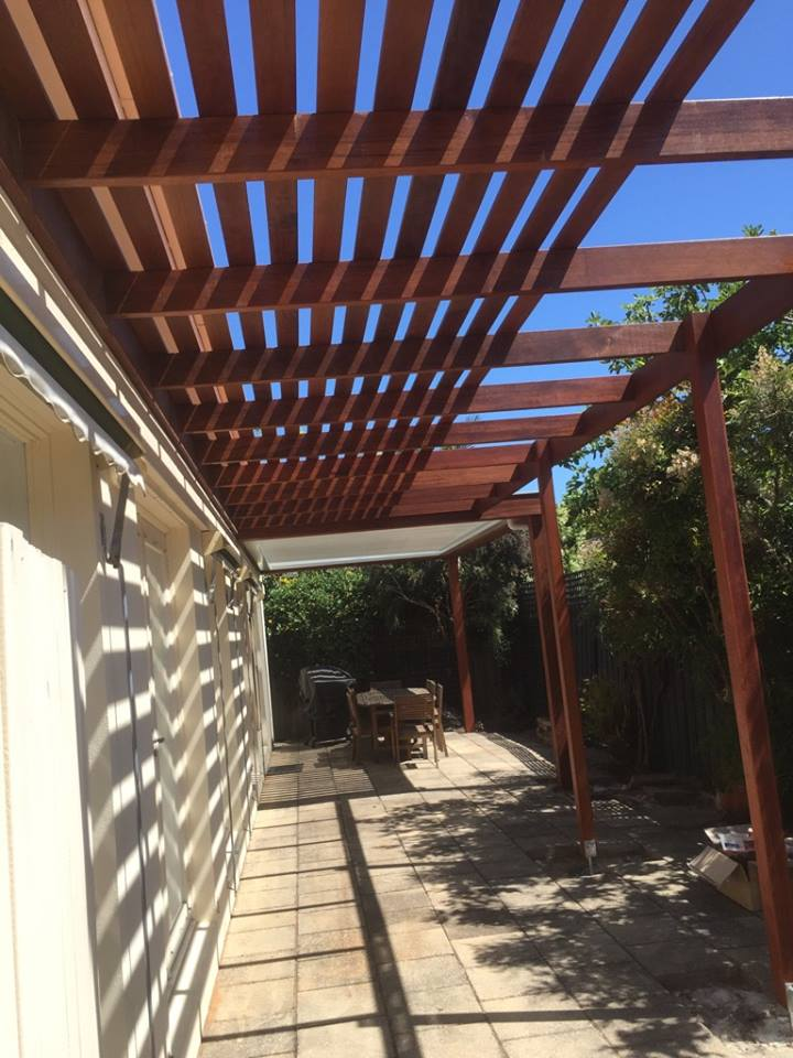 """This pergola and verandah project was designed and constructed by Totally  Outdoors used extremely durable merbau hardwood timber for frame and slat's  to ... - Pergola Plans The Blog For The Project Centre"