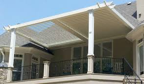open and closed louver roof